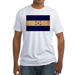 Honduras Flag Fitted T-Shirt