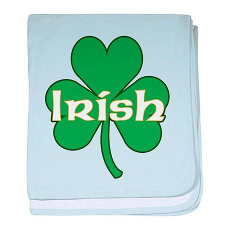 Irish Shamrock baby blanket