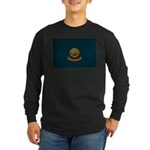 Idaho Flag Long Sleeve Dark T-Shirt