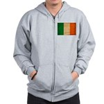 Ireland Flag Zip Hoodie