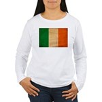 Ireland Flag Women's Long Sleeve T-Shirt
