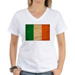 Ireland Flag Women's V-Neck T-Shirt