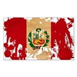 Peru Flag Sticker (Rectangle 50 pk)