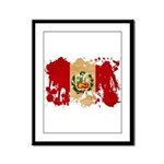 Peru Flag Framed Panel Print