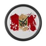 Peru Flag Large Wall Clock