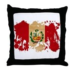 Peru Flag Throw Pillow
