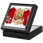 Peru Flag Keepsake Box