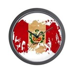 Peru Flag Wall Clock