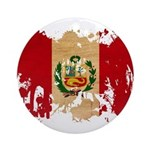Peru Flag Ornament (Round)