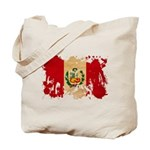 Peru Flag Tote Bag