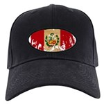 Peru Flag Black Cap