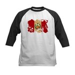 Peru Flag Kids Baseball Jersey