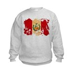 Peru Flag Kids Sweatshirt