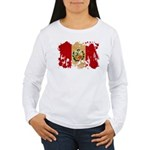 Peru Flag Women's Long Sleeve T-Shirt