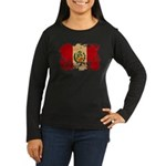 Peru Flag Women's Long Sleeve Dark T-Shirt