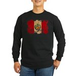 Peru Flag Long Sleeve Dark T-Shirt