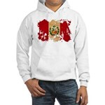 Peru Flag Hooded Sweatshirt