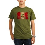 Peru Flag Organic Men's T-Shirt (dark)