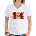 Peru Flag Women's V-Neck T-Shirt