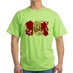 Peru Flag Green T-Shirt