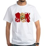 Peru Flag White T-Shirt