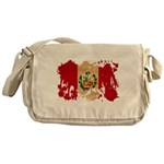 Peru Flag Messenger Bag