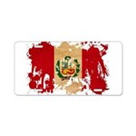 Peru Flag Aluminum License Plate