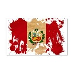 Peru Flag Car Magnet 20 x 12