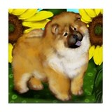 CHOW CHOW DOG Tile Coaster