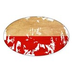 Poland Flag Sticker (Oval 10 pk)