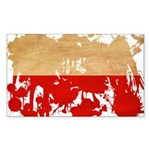 Poland Flag Sticker (Rectangle)