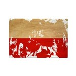 Poland Flag Rectangle Magnet (10 pack)