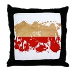 Poland Flag Throw Pillow