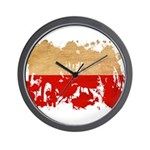 Poland Flag Wall Clock