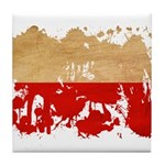 Poland Flag Tile Coaster