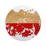 Poland Flag Ornament (Round)