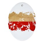 Poland Flag Ornament (Oval)