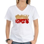 Poland Flag Women's V-Neck T-Shirt