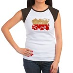 Poland Flag Women's Cap Sleeve T-Shirt