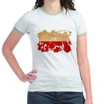 Poland Flag Jr. Ringer T-Shirt