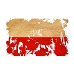 Poland Flag 38.5 x 24.5 Wall Peel
