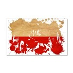 Poland Flag Car Magnet 20 x 12