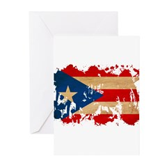 Puerto Rico Flag Greeting Cards (Pk of 10)