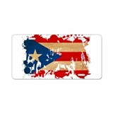 Puerto Rico Flag Aluminum License Plate