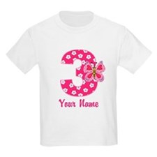 3rd Birthday Butterfly T-Shirt