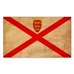 Jersey Flag Sticker (Rectangle 50 pk)