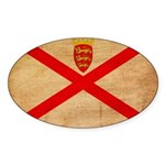 Jersey Flag Sticker (Oval)