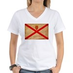 Jersey Flag Women's V-Neck T-Shirt