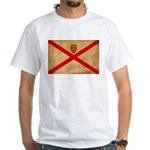 Jersey Flag White T-Shirt