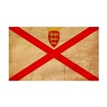 Jersey Flag 38.5 x 24.5 Wall Peel